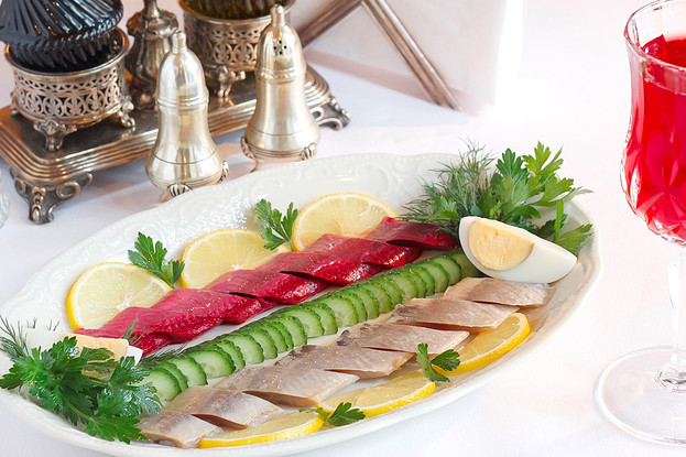 Ресторан «Царь», Санкт-Петербург: Селедка двойная с молодым картофелем