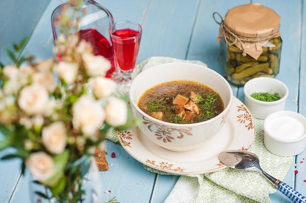 Ресторан «Katyusha», Санкт-Петербург: Рассольник по бабушкиному рецепту с телячьим языком