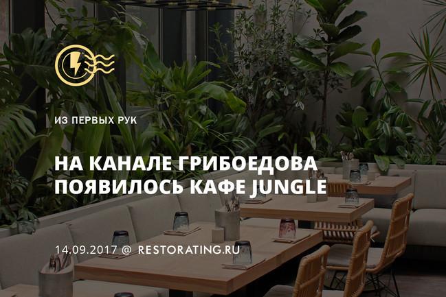 На канале Грибоедова появилось кафе Jungle