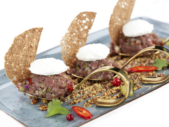Ресторан «Тройка», Санкт-Петербург: Тартар из мраморной говядины