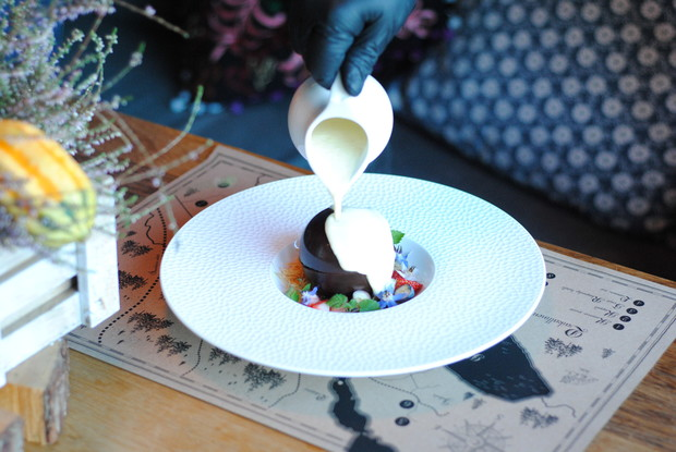 Ресторан «Вереск», Санкт-Петербург: Десерт Лава-кейк