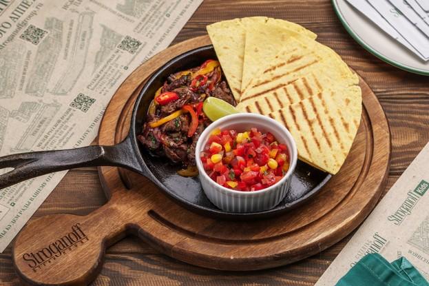 Ресторан «Stroganoff Steak House», Санкт-Петербург: Мексиканский фахитас